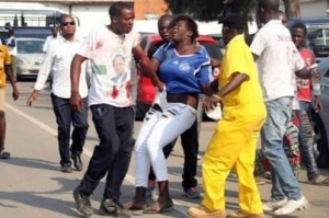 Lady Beaten & Molested For Breaking A Man's Head During A Football Match (Photos)